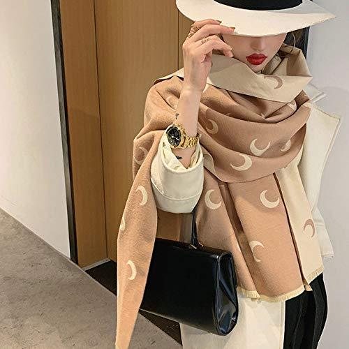 DAHUANZIG Pañuelo de Seda 2019 Bufanda Marca Hijab Invierno a Cuadros Gruesa Chal y Damas cálido pañuelo en la Cabeza Bufanda
