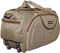 Zion bag Waterproof Polyester Lightweight 60 L Luggage Brown Travel Duffel Bag with 2 Wheels,Zion bag,ZB60