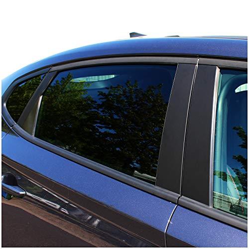 AlphaShield Folie Set für B C D Säule Zierblenden Lackschutz Aufkleber Auto Selbstklebend Kfz Zubehör Passgenaue Klebefolie FX03 (Carbon Schwarz)