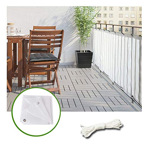 LIANGLIANG Sunblock Shade Cloth, Outdoor Sun Protection Anti-UV Potted Plants Plants Shading Net Mesh Ventilation Waterproof, White, Customizable (Color : White, Size : 4x4m)