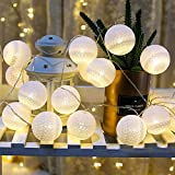 2Pack Cotton Balls Fairy Lights Battery Powered 6.8Ft 10 LEDs,Christmas Tree Decor Warm White Fairy Light for Indoor,Kid Bedroom,Curtain,Home,Wedding,Holiday,Party (Warm White (2Pack))