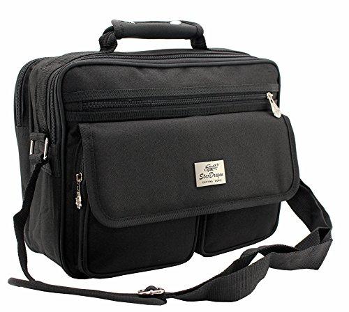 Schultertasche Citybag Flugbegleiter Ausweistasche Umhängetasche Business Messenger Bag Tasche Black NEU
