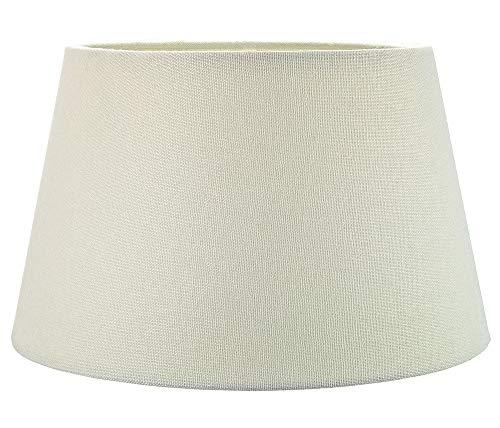 Traditionele 14 inch crème linnen stoffen drumtafel/hanglamp Lampenkap maximaal 60w