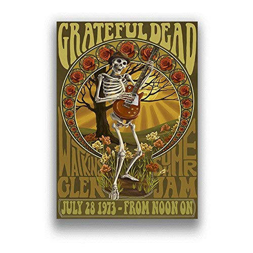 JMHomeDecor Póster De The Grateful Dead, Póster De Música Rock, Pintura En Lienzo, Imagen Impresa, Artista De Pared, Decoración del Hogar, 50X70Cm -Ti1284