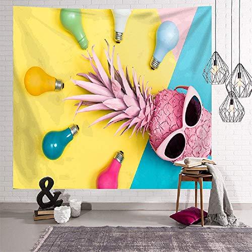 Tapiz de piña, cubierta de pared, cubierta de muebles, hojas verdes, patrón de estilo, tapiz decorativo, decoración del hogar, 150X200CM