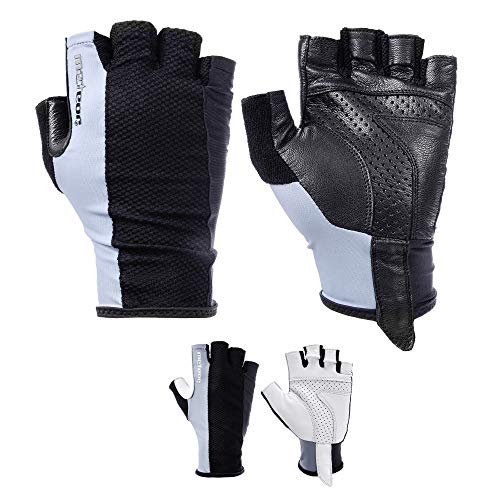 meteor Leather Gloves radhandschuhe MTB Handschuhe Herren fahrradhandschuhe Mountainbike Handschuhe - Radsport Handschuhe Damen - Radsporthandschuhe Downhill Wandern Fahrrad Handschuhe Kinder