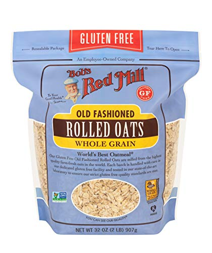 Bob's Red Mill Gluten Free Old Fashion Rolled Oats (32 Ounce, Pack of 1)