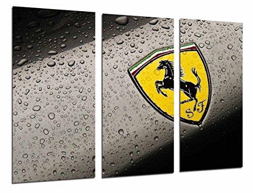 Poster Fotográfico Logo Amarillo Ferrari, Coche, Marca Tamaño total: 97 x 62 cm XXL