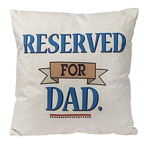 Widdle Gifts Ltd 16 Inch Cushion Cover with Pillow - Reserved for Dad 6086