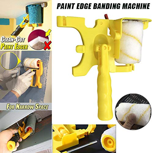 xlpace Paint Edger, Clean-Cut Paint Edger Roller Brush Safe Tool Portable for Home Room Wall Ceilings