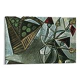 YANGLIN Pablo Picasso bodegón de la fruta Póster en lienzo y arte de pared moderno para dormitorio familiar de 50 x 75 cm