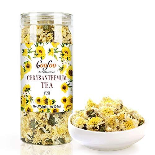 Goofoo Chrysanthemum Tea Gongju Whole Chinese Herbal Flower Loose Leaf Tea 1 oz Gift For Her