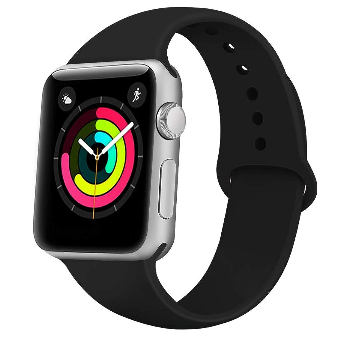 個人的に純正ばかげたApple Watch バンド 全機種対応 コンパチブル おしゃれ アップルウォッチバンド ソフトシリコン 交換ベルド
