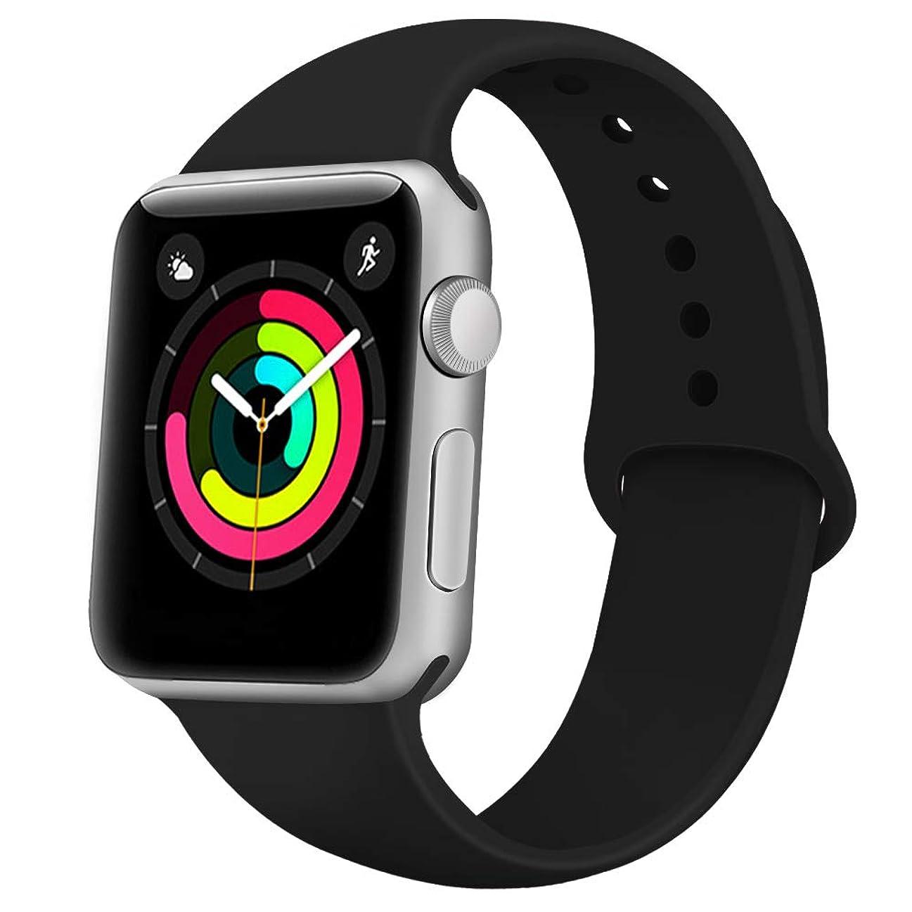 Apple Watch バンド 全機種対応 コンパチブル おしゃれ アップルウォッチバンド ソフトシリコン 交換ベルド