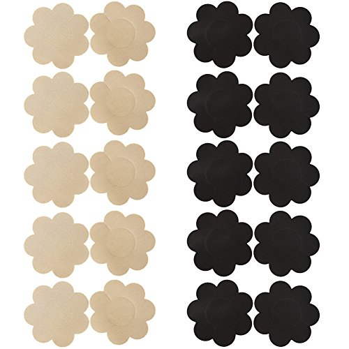 Ayliss Assorted 10Pairs Nipple Covers Disposable Pasties Self-Adhesive Breast Petals,#1
