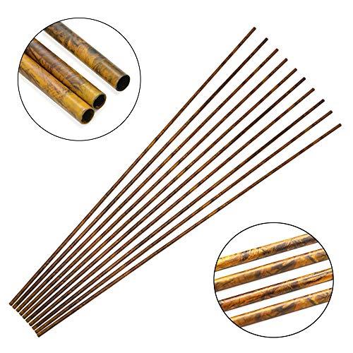 SHARROW 12/24 Stücke Carbonpfeile Schaft Pure Carbon Pfeilschaft 30 Zoll 250-600 Spine Carbonschaft ID 6.2mm Kohlenstoff Pfeilschäfte für DIY Hausgemachte Pfeile (24 Stück/Camo, Spine 400)