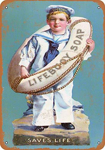 Generic Brands Lifebuoy Seife Blechschild Vintage Retro Schild Eisen Malerei Warnung Hinweis Retro Poster Cafe Bar Film Geschenk Badezimmer Garage