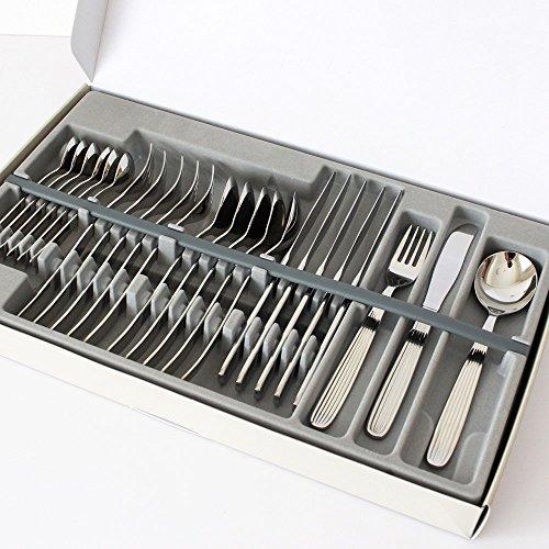 Iittala Scandia Besteck, Edelstahl, Silber, 50 x 30 x 6 cm, 24-Einheiten