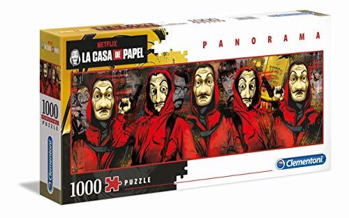 Clementoni - 39545 - Puzzle Panorama - La Casa Di Carta - 1000 Pezzi - Made In Italy - Puzzle Adulti Netflix