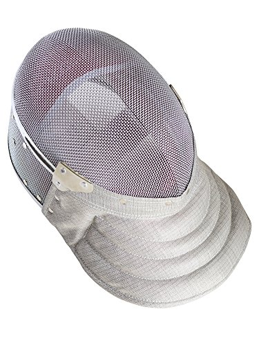 Fencing Sabre Mask CE350N Certified National Grade Including Head Wire (Mask Cord) By American Fencing Gear X-Small