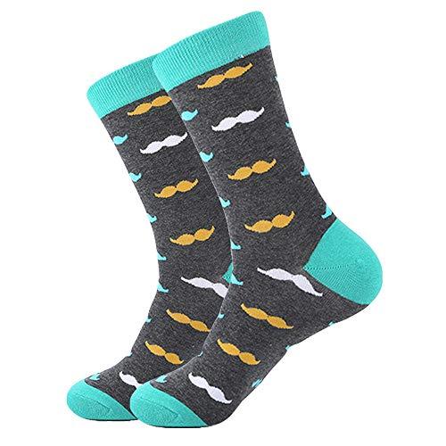 AIMICONG Calcetines Termicos Hombres 85% Calcetines De Algodón para Hombre Invierno Harajuku Colorido Divertido Caca Dinosaurio Sushi Bigote Calcetines De Vestir para Hombre