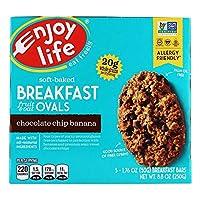 Enjoy Life Foods ソフトベークトブレックファスト フルーツ オーツ オーバル チョコチップバナナ 5本 各50 g 1 76 oz