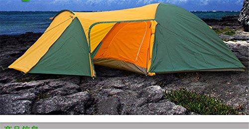MONEYY Produits de Plein air d'une Chambre de et Une Salle de séjour Camping en Tente Double Effet Pluie extérieure Couples Tente (80 +90 +210)*210 * 130cm