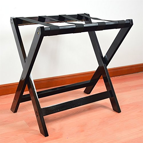 SH-xlj Foldable Luggage Rack, Wooden Foldable Suitcase Rack as Luggage Support Stand Tray Stand Suitcase Shelf Backpacks Organiser 60 * 40 * 60CM