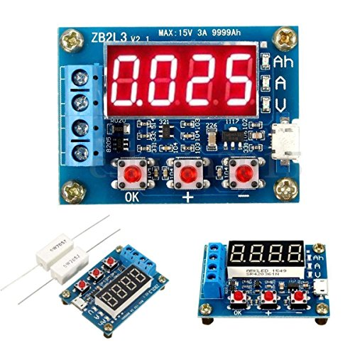 Review HiLetgo Battery Capacity Meter Discharge Tester Analyzer 1.5V-12V Battery Capacity Meter Disc...