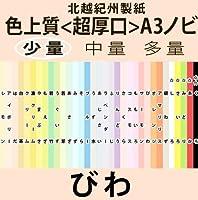 北越紀州色上質A3ノビ(329mm×483mm)横目<超厚口>(少量)[びわ](15枚)