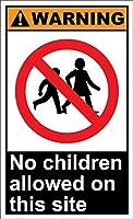 警告このサイトでは子供は許可されていません。金属スズサイン通知道路交通道路危険警告耐久性、防水性、防錆性