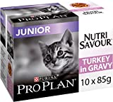 PRO PLAN Chat Nutrisavour Junior - A la Dinde - Pochons pour chaton 10 x 85 g - Lot de 4