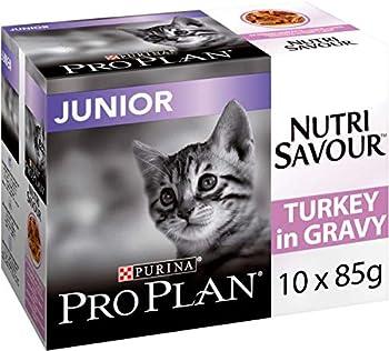 PRO PLAN Chat Nutrisavour Junior - A la Dinde - Pochons pour chaton 10 x 85 g - Lot de 4