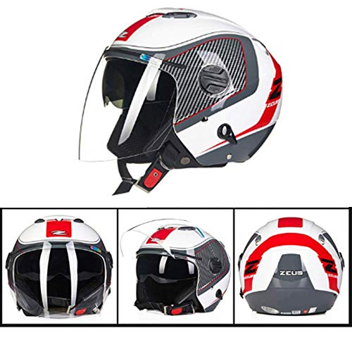 Motorhelmen Off-road racing Fietsen Double-lens Half-helmen met Zonnebril Cruiser ATV Scooters Skateboards 3/4 Helmen Washable Linings Four Seasons Universal meerdere kleuren kiezen 8bayfa