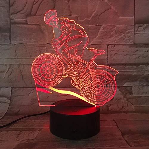 QAQ Sterrenhemel 3D Nachtlampjes voor Kinderen Mountainbike Nachtlampje Speelgoed voor Jongen 7 LED Kleuren Veranderende Verlichting Tafel Bureau Slaapkamer Decoratie Speelgoed Geschenken