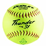Dudley ASA Thunder Hycon Slowpitch Synthetic Softball - 12 Pack, Yellow, Size 12 (4A069YA) asa slow pitch softball bats May, 2021