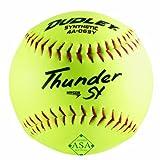 Dudley ASA Thunder Hycon Slowpitch Synthetic Softball - 12 Pack, Yellow, Size 12 (4A069YA) asa slow pitch softball bats Dec, 2020