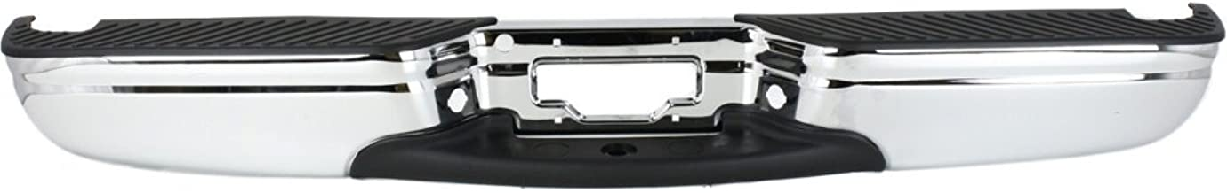 Rear Step Bumper Compatible with Ford F-150 1997-2004/F-250 1997-1999 Assembly Chrome Steel Styleside Regular Cab/Supercab
