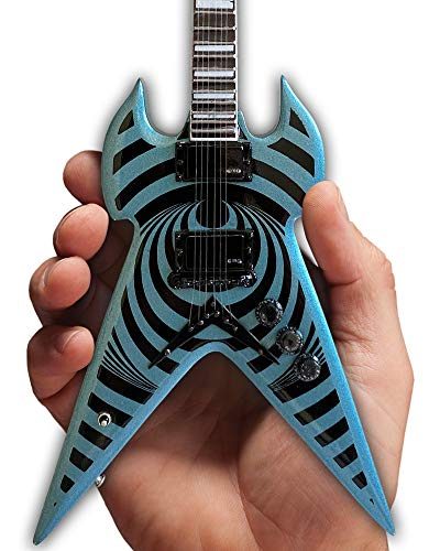 Zakk Wylde Mini Guitar - Wylde Audio Pelham Blue Vertigo Warhammer Replica 1:4 Scale Model