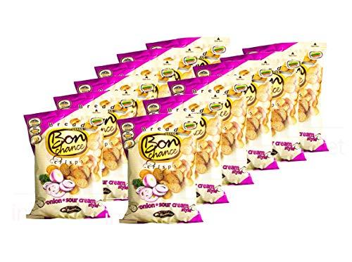 Bread Snack Bon Chance Bread Chips Multipack Snack Box (Paquete de 12 x 120 g) (Crema Agria Cebolla)
