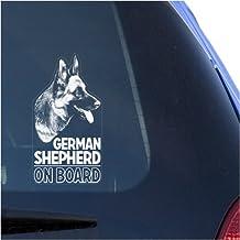 German Shepherd Clear Vinyl Decal Sticker for Window, Alsatian Dog Sign Art Print