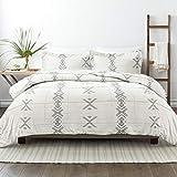 Linen Market Premium Down Alternative Urban Stitch Patterned Comforter Sets, Full/Queen, Gray