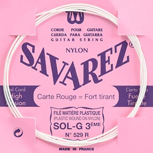 Savarez Corde simple pour guitare classique Classic Concert 529R corde simple G3w standard, convient aux cordes 520P, 520P1, 520P3