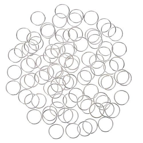 Packung Haarringe Braid Ringe Haarschlaufen Clips Haarschmuck (Silver)