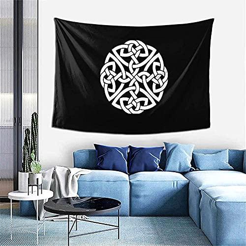 Tapiz para colgar en la pared de la sala de estar con nudo de la cruz celta del Guerrero del escudo irlandés, tapiz de decoración de la pared del hogar del dormitorio 60x40 pulgadas oein