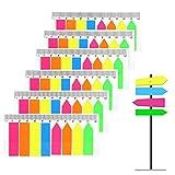 Segnapagina Adesivi Colorati, 960 pezzi Scrivibile Etichette Pagina Marcatore Segnalibri Testo Evidenziatore Striscem Note, Appiccicose Pagina marcatore per Scuola ed Ufficio - 6 Set,5 Colori