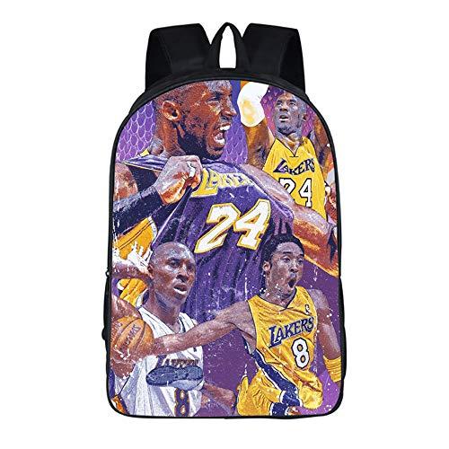 ULIIM Fashion Basketball Kobe Backpack for Kid Student Bookbags Back to School Travel Bag Men Boys&Girls Bagpack