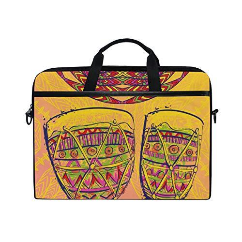 BEITUOLA 15-15.4 Zoll Laptop Taschen,Brasilien Karneval Template Design Poster Banner,Verschiedene Muster multifunktionale Laptop Tasche tragbare Hülle Aktentasche Umhängetasche