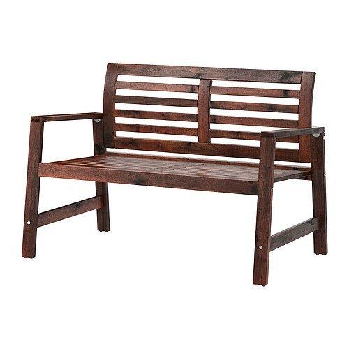 Ikea Applaro - Banco de madera, color marrón