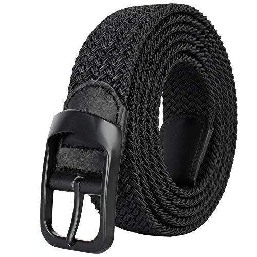 Drizzte Plus Size Mens Belt 47'' Casual Elastic Comfort Stretchy Fabric Belts